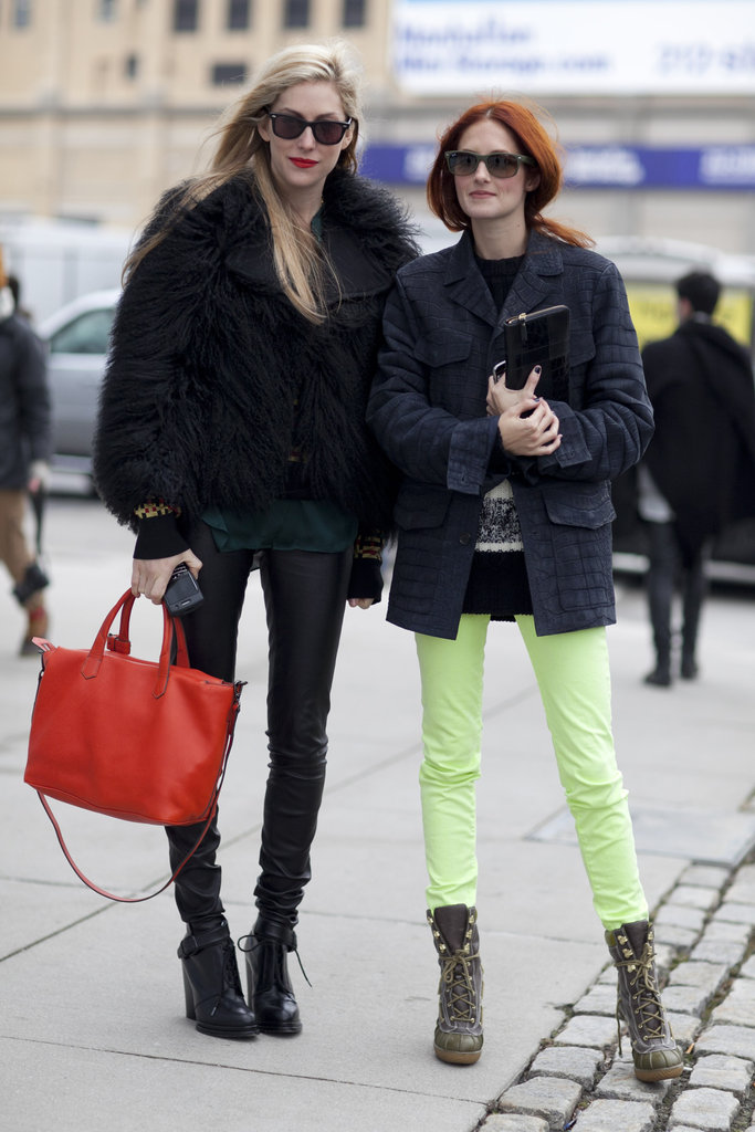 Joanna Hillman and Taylor Tomasi Hill make an insanely cool duo outside Lincoln Center.