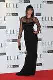 Christina Ricci got sultry in a long black Jonathan Saunders gown with sheer insets.