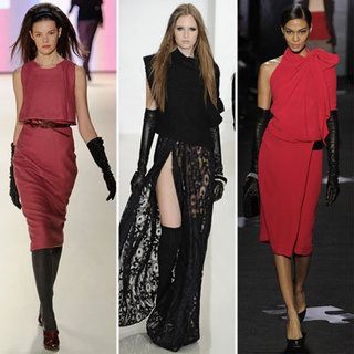 Leather Gloves and Dresses For Spring 2012