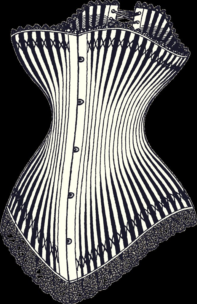 Here's an example of the corset style in 1878.