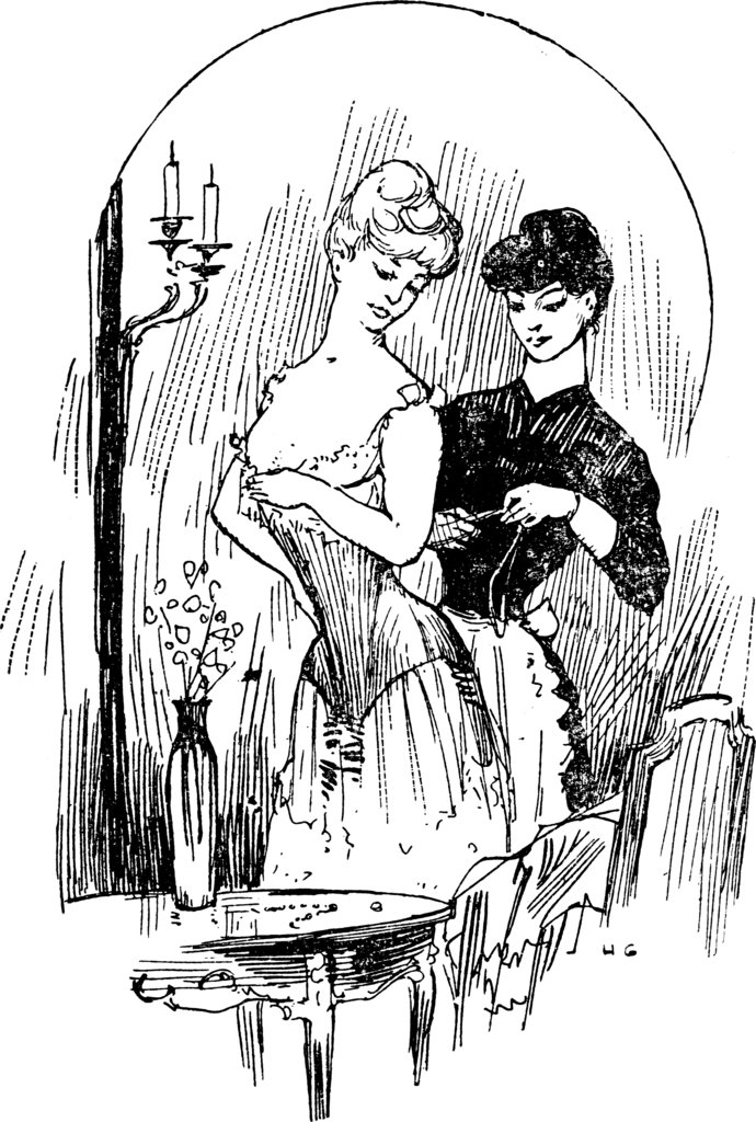 It took some help in 1904 to get in a corset.