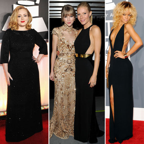 Our Top 4 Best Dressed Celebrity at the 2012 Grammys: Adele, Taylor Swift, Rihanna & Gwyneth Paltrow. Who's Yours?