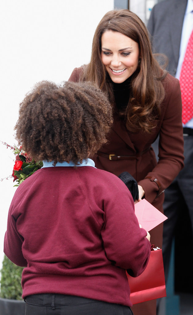 Kate Middleton met a young fan in Liverpool.
