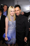 Dakota Fanning and Marc Jacobs caught up.