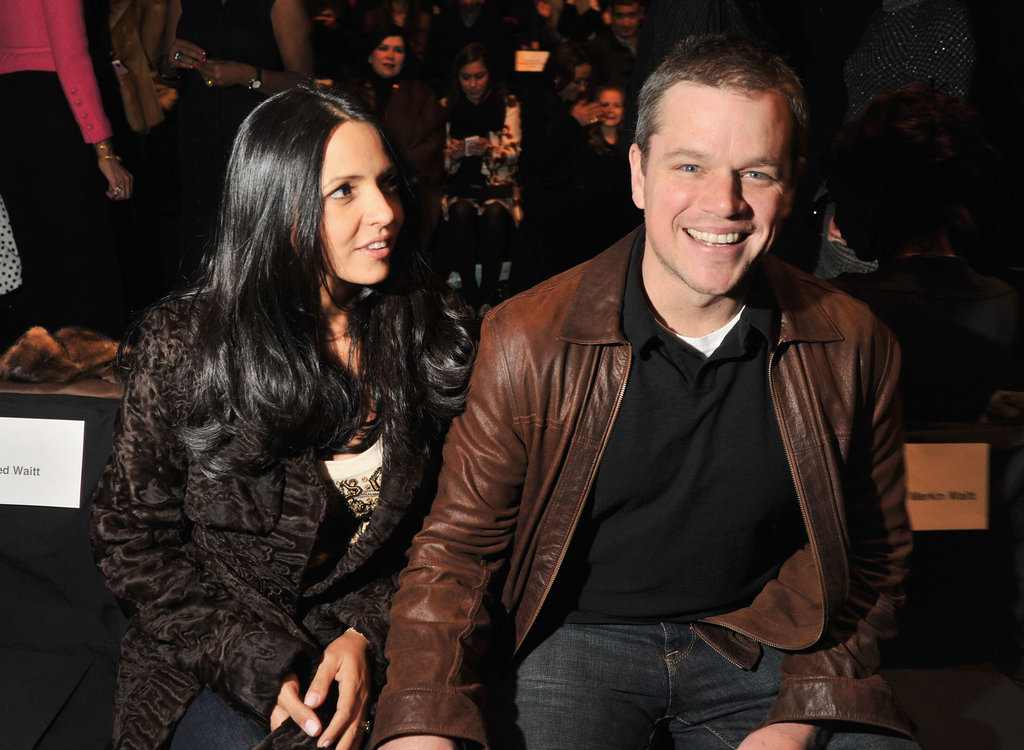 Lucy and Matt sat close at Naeem Khan.