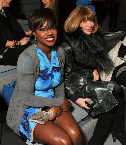 Viola Davis and Anna Wintour were front row for Vera Wang.