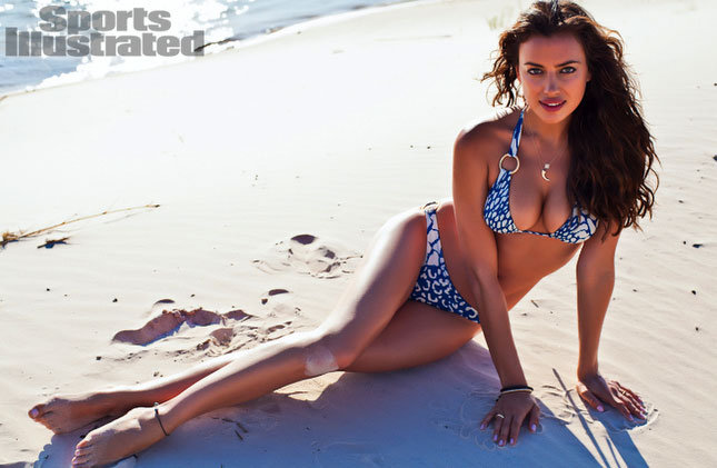 Irina Shayk hit the beach.