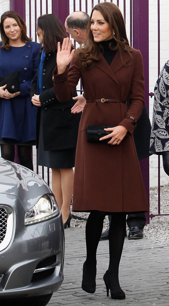 Kate Middleton waved to fans in Liverpool.