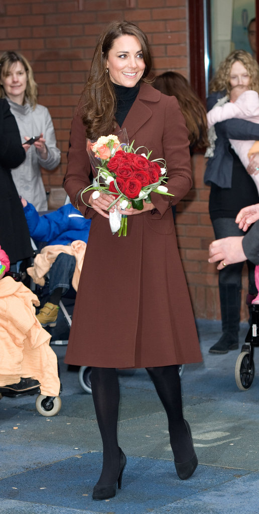 Kate Middleton wore a coat from Hobbs.