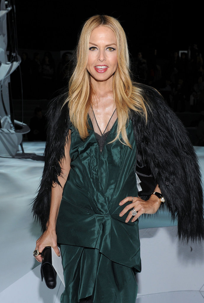Rachel Zoe struck a pose at Marc Jacobs.