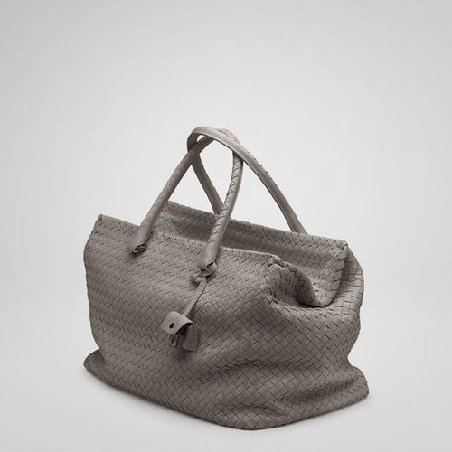 Bottega Veneta - Steel Intrecciato Nappa Brick Bag ($4,400)