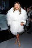Anna Dello Russo was all glamour in a full furry coat.