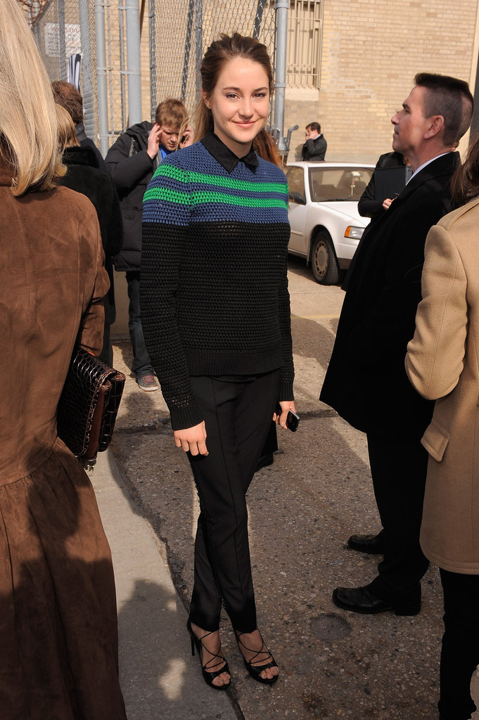Shailene Woodley at Jason Wu