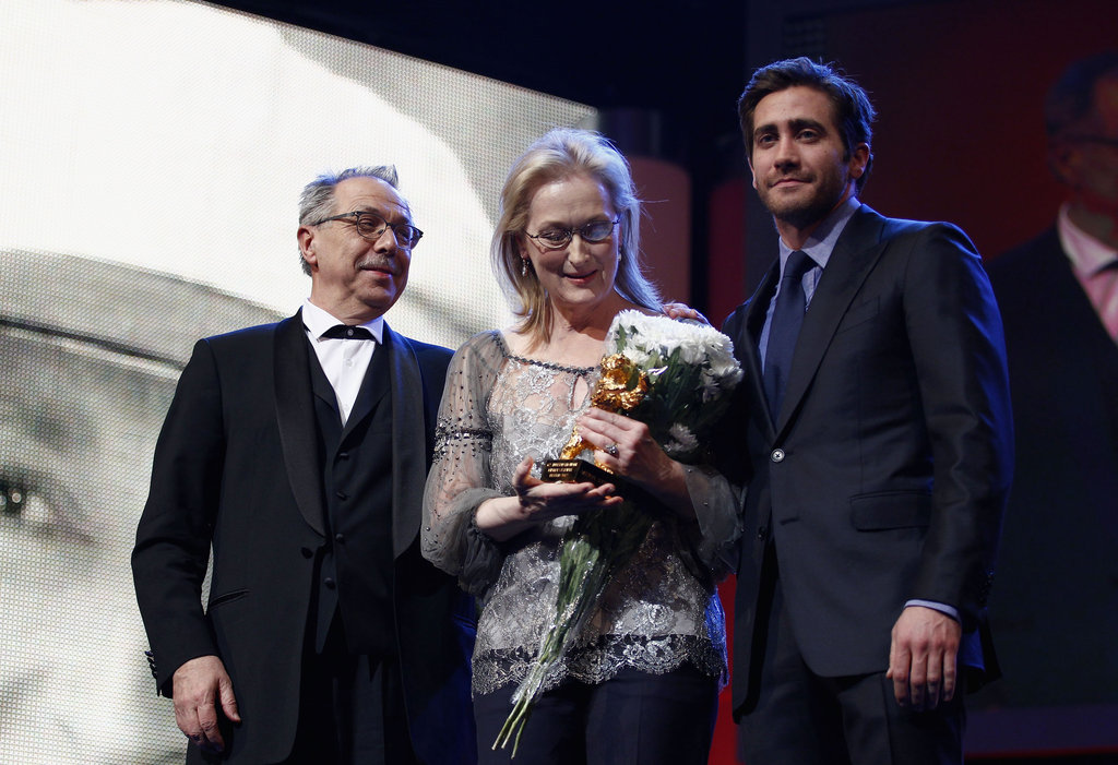 Jake presented Meryl with the honorary Golden Bear award.