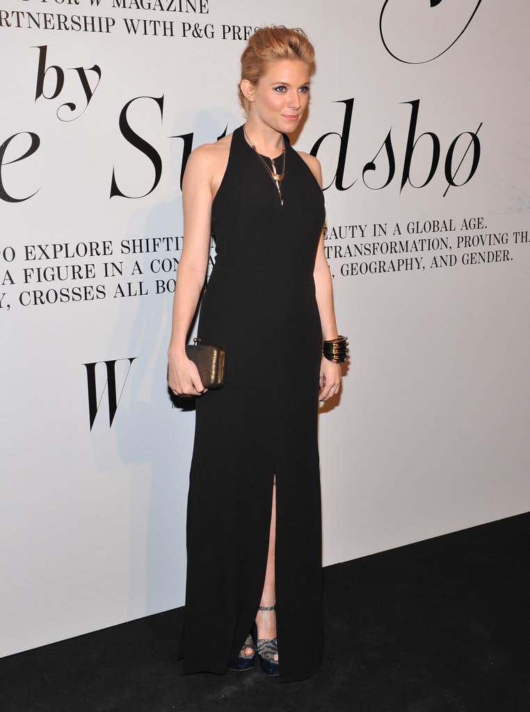 Sienna Miller hit the black carpet.