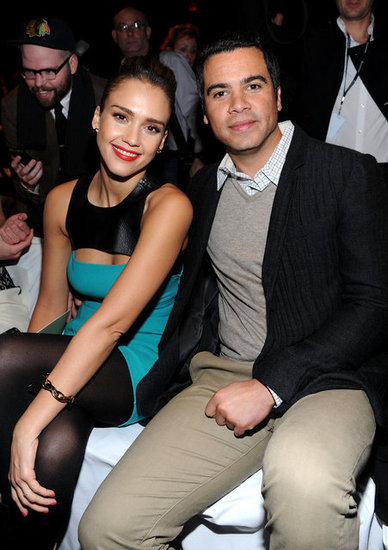 Jessica Alba and Cash Warren sat close at the Michael Kors show.