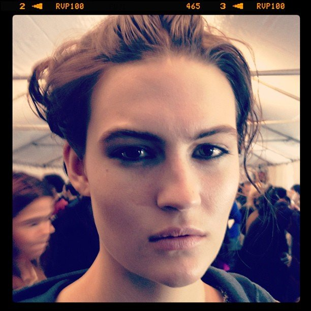 The India-inspired makeup at Rag & Bone.