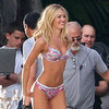 Candice Swanepoel Models Bikini For Victoria's Secret