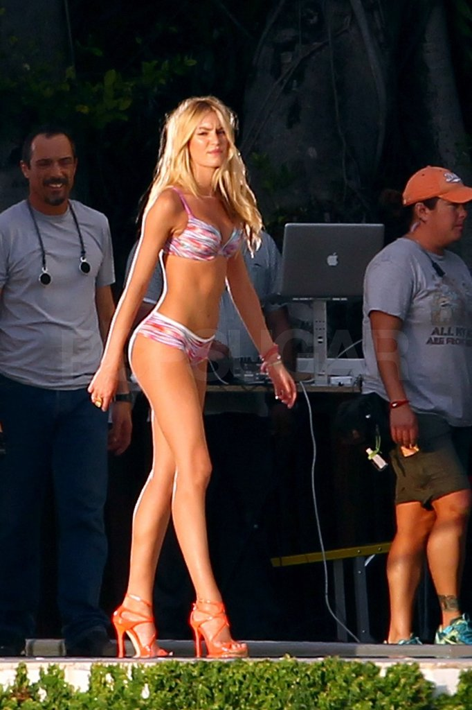 Candice walked onto the set like a pro.