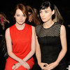 Emma Stone and Rooney Mara Fashion Week Pictures