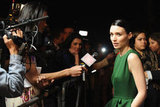 Rooney Mara did interviews at the Santa Barbara Film Festival.