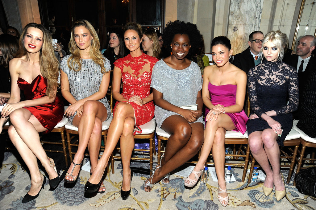 Petra Nemcova, Bar Refaeli, Stacy Keibler, Adeperi Oduye, Jenna Dewan, and Taylor Momsen attended the Marchesa Fall 2012 fashion show during Mercedes-Benz Fashion Week at The Plaza Hotel.