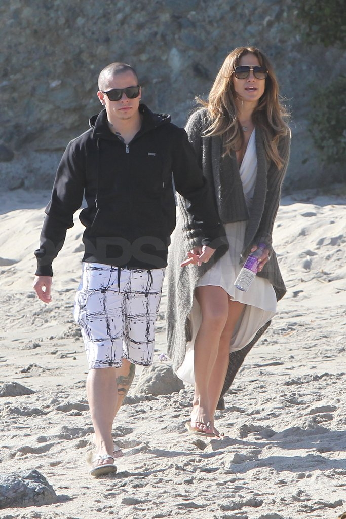 Jennifer Lopez and Casper Smart took a Valentine's Day walk.