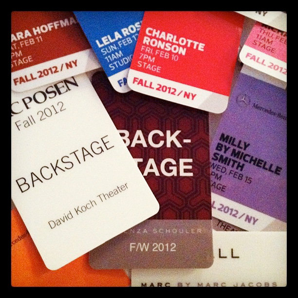A few backstage passes.