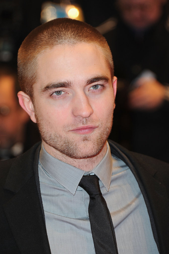 Rob looked handsome with his new hairdo.