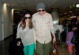 Channing and Jenna both wore sunglasses making their way through the airport.