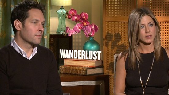 "Jennifer Aniston Talks ""Sweet"" Justin Theroux With Her Wanderlust Leading Man Paul Rudd"