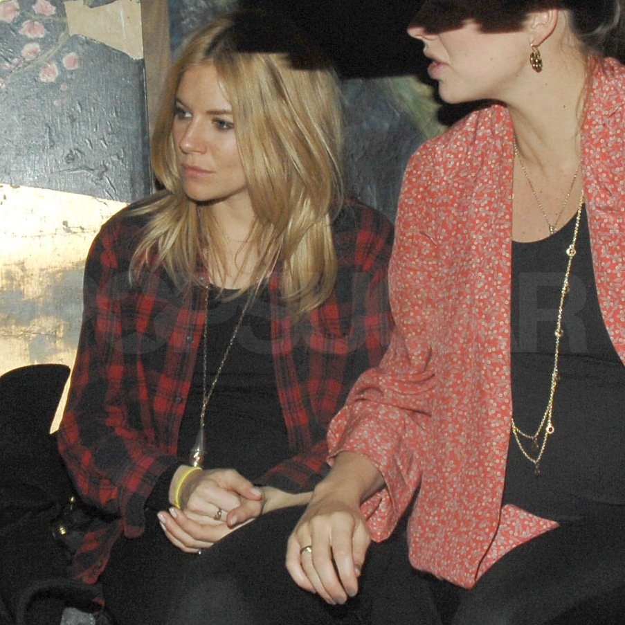 Sienna Miller chilled out while pregnant.