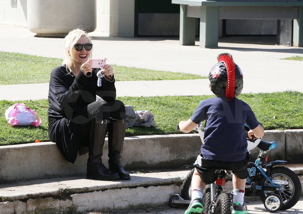 Gwen Stefani photographed son Kingston.