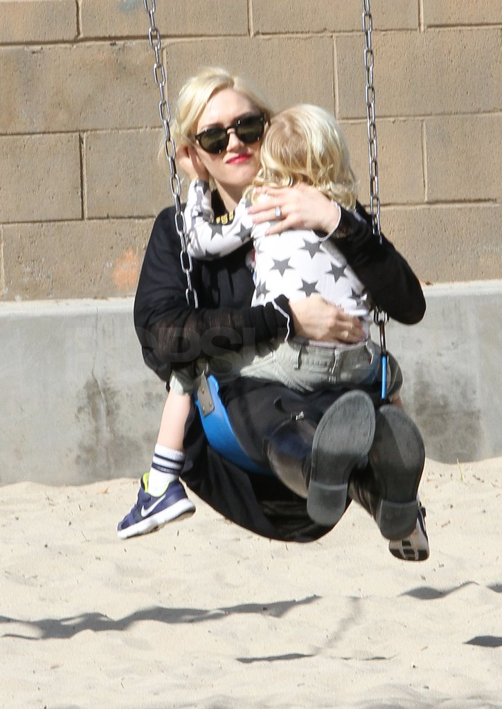 Gwen Stefani went on a swing with Zuma Rossdale.