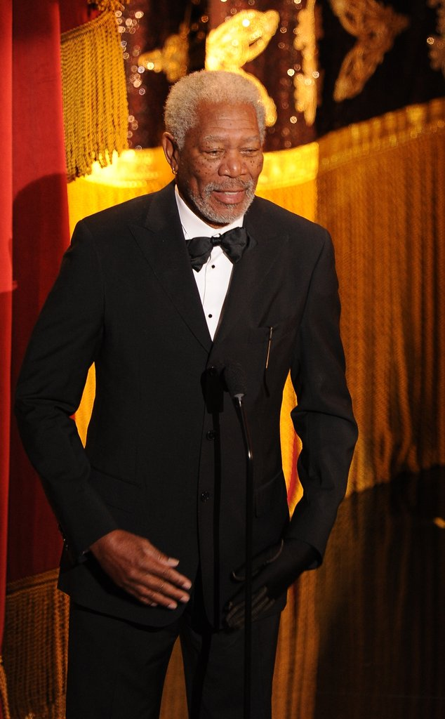 Morgan Freeman opened the show.
