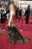 Jessica Chastain on the 2012 Oscars red carpet.