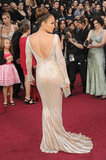Jennifer Lopez Shows Skin on the Oscars Red Carpet