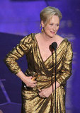 Meryl Streep won the best actress award for her role in The Iron Lady.
