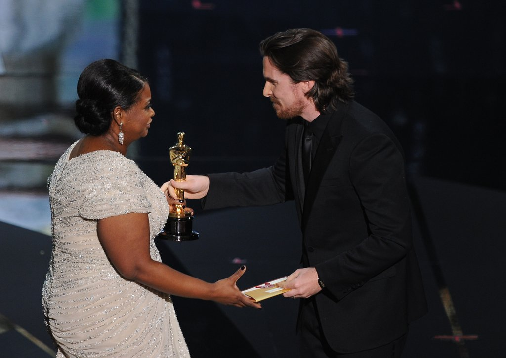 Christian Bale presented the best supporting actress award to The Help's Octavia Spencer.