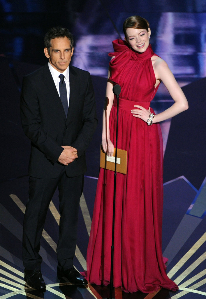 Emma Stone was super funny onstage with Ben Stiller.