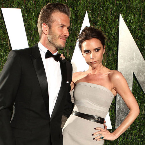 Victoria and David Beckham Pictures at 2012 Vanity Fair Oscars Party