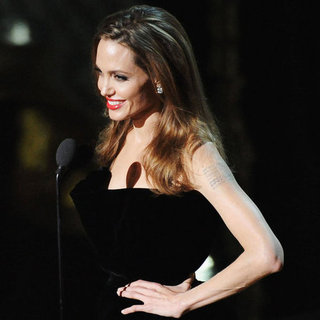 Angelina Jolie on Stage at Oscars 2012 Pictures
