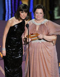 Rose Byrne and Melissa McCarthy presented an award together during the 2012 Oscars.