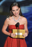 Natalie Portman presented the best actor award at the 2012 Oscars.