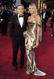 George Clooney Arrives at the Oscars With Stacy Keibler on His Arm