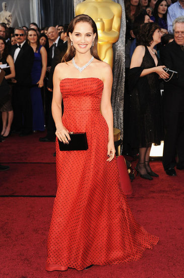 Natalie Portman attended the 2012 Oscars.