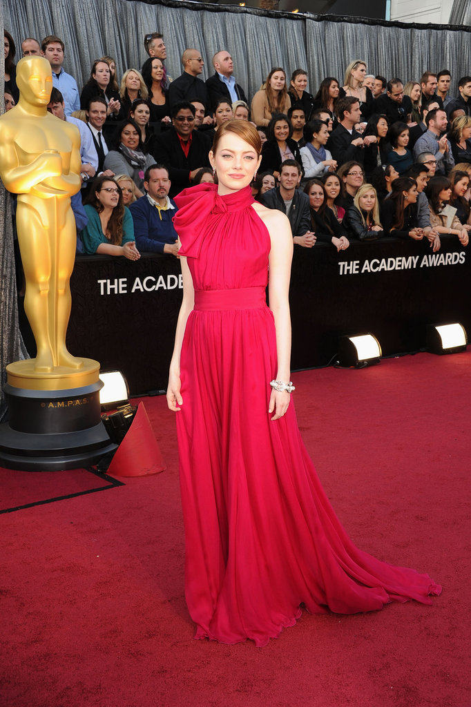 Lady in Red Emma Stone