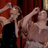 Bridesmaids Stars Melissa McCarthy and Rose Byrne Play Scorsese Drinking Game at 2012 Oscars