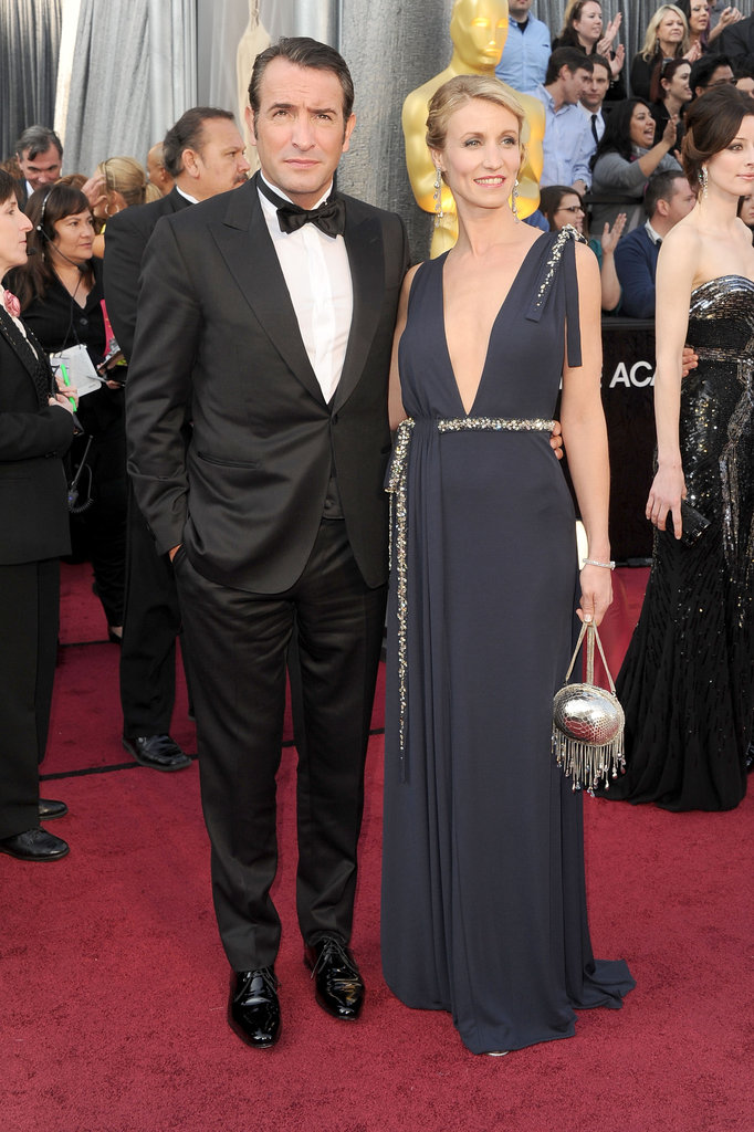 Jean Dujardin posed alongside wife Alexandra.