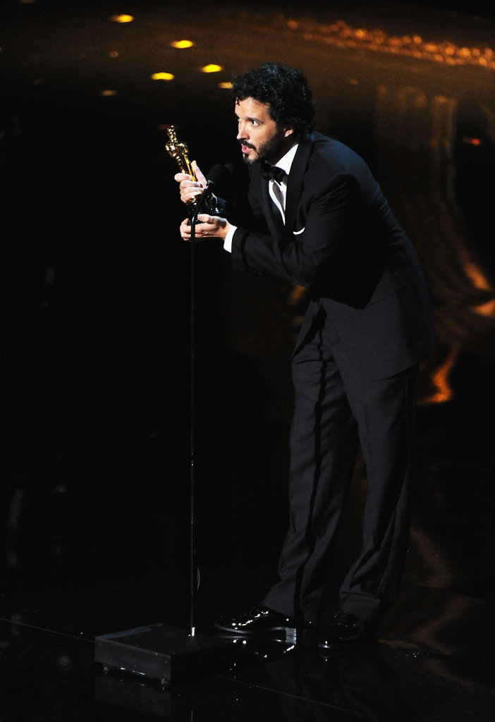 Songwriter Bret McKenzie accepted his award.